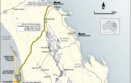 galilee coal project map